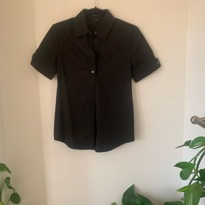 Theory short sleeve button down black with buttons
